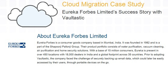 Eureka Forbes Limited's Success Story with Vaultastic
