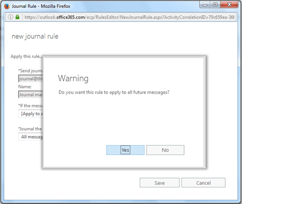 How to Configure Journal Rule for All Users in Office 365